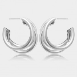 Coen C Triple C Silver Earrings (B01377K1)