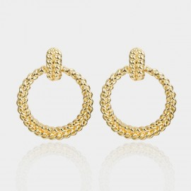 Coen C Twist Gold Earrings (B01379K1)