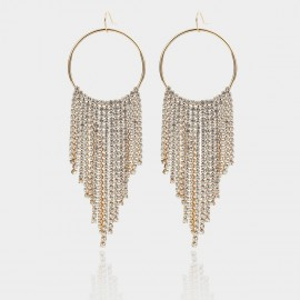 Coen C Shining Tassales Gold Earrings (B01402K1)