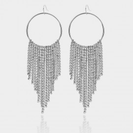 Coen C Shining Tassales Silver Earrings (B01402K1)
