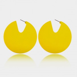 Coen C Open Fluorescent Yellow Earrings (B01415K1)