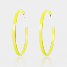 Coen C Half Fluorescent Yellow Earrings (B01419K1)