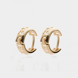 Coen C Hollow Love Gold Earrings (B01437K1)
