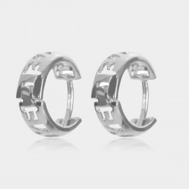 Coen C Hollow Love Silver Earrings (B01437K1)