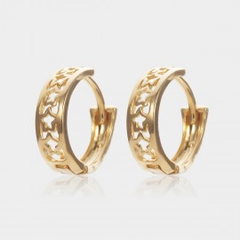 Coen C Hollow Stars Gold Earrings (B01438K1)