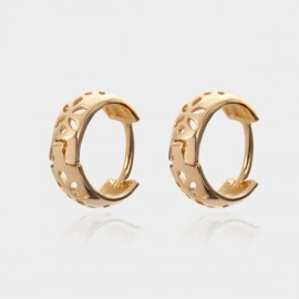 Coen C Hollow Petals Gold Earrings (B01439K1)
