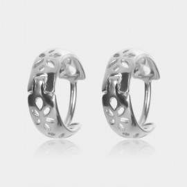 Coen C Hollow Petals Silver Earrings (B01439K1)
