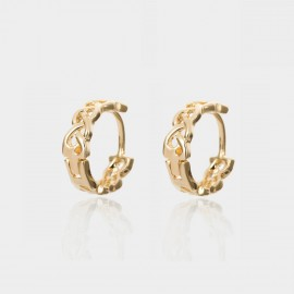 Coen C Hollow Weave Gold Earrings (B01440K1)