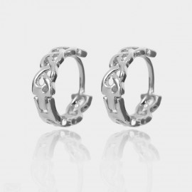 Coen C Hollow Weave Silver Earrings (B01440K1)
