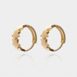 Coen C Linking Pentagrams Gold Earrings (B01441K1)