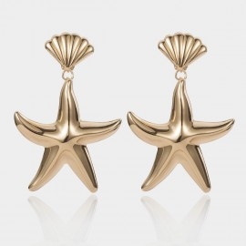 Coen C Sea Life Gold Earrings (B01467K1)