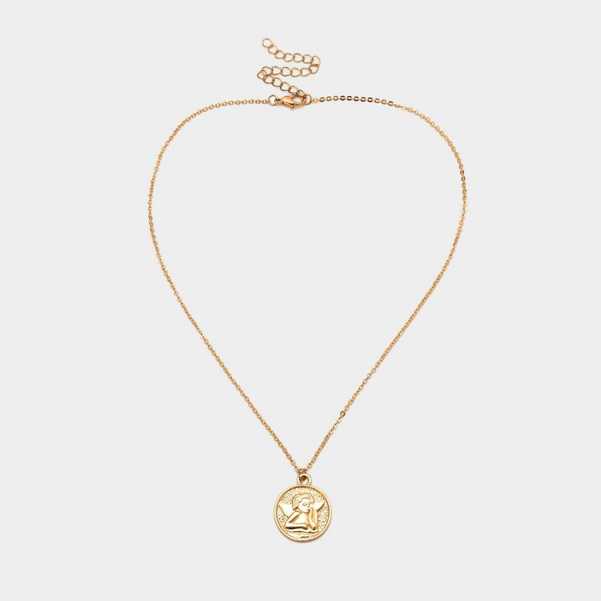 Coen C Angel Coin Gold Necklace (C02094K1)