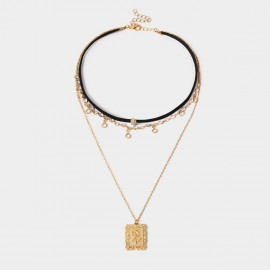 Coen C Flannel Rose Tag Gold Long Chain (C02113K1)