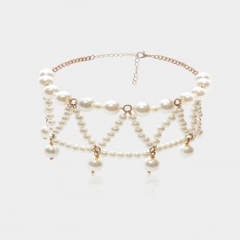 Coen C Pearl Net White Necklace (C02135K2)
