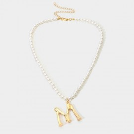 Coen C Pearl M Gold Necklace (C02207K1)