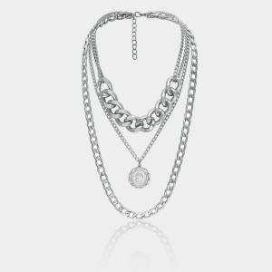 Coen C Rock N Roll Queen Silver Long Chain (C02252K1)