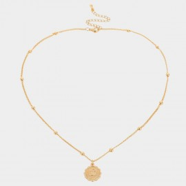 Coen C Cancer Gold Necklace (C02262K1)