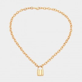 Coen C Heart Lock Gold Long Chain (C02276K1)