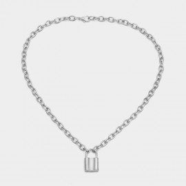 Coen C Heart Lock Silver Long Chain (C02276K1)