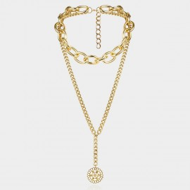 Coen C Flower Disc Gold Long Chain (C02277K1)
