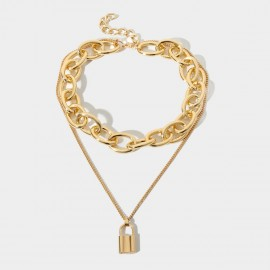 Coen C Rocky Lock Gold Long Chain (C02283K1)