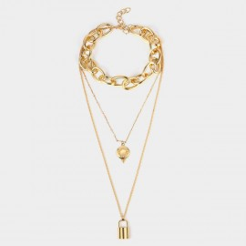 Coen C Disc Lock Gold Long Chain (C02284K1)
