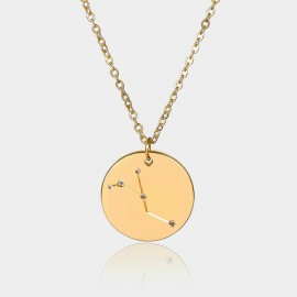 Coen C Cancer Chart Gold Long Chain (C02313K1)