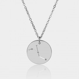 Coen C Cancer Chart Silver Long Chain (C02313K1)
