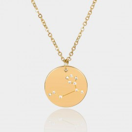 Coen C Leo Chart Gold Long Chain (C02314K1)