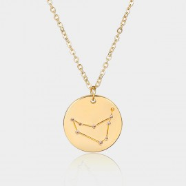 Coen C Capricorn Chart Gold Long Chain (C02319K1)