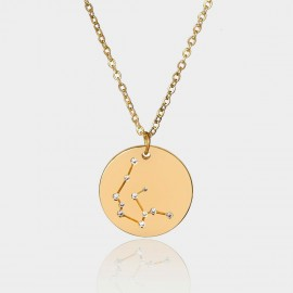 Coen C Aquarius Chart Gold Long Chain (C02320K1)