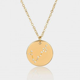 Coen C Pisces Chart Gold Long Chain (C02321K1)