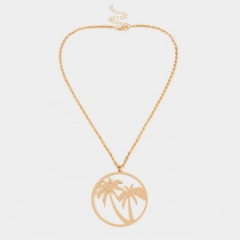 Coen C Coconut Trees Gold Necklace (C02331K1)