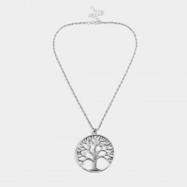 Coen C Aged Tree Silver Necklace (C02335K1)