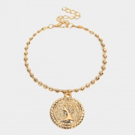 Coen C Queen Disc Beads Gold Bracelet (E00350K2)