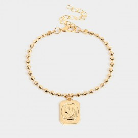 Coen C Saintess Tag Gold Bracelet (E00350K3)