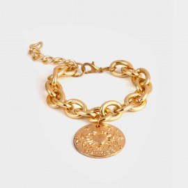 Coen C Cancer Disc Gold Bracelet (E00382K1)