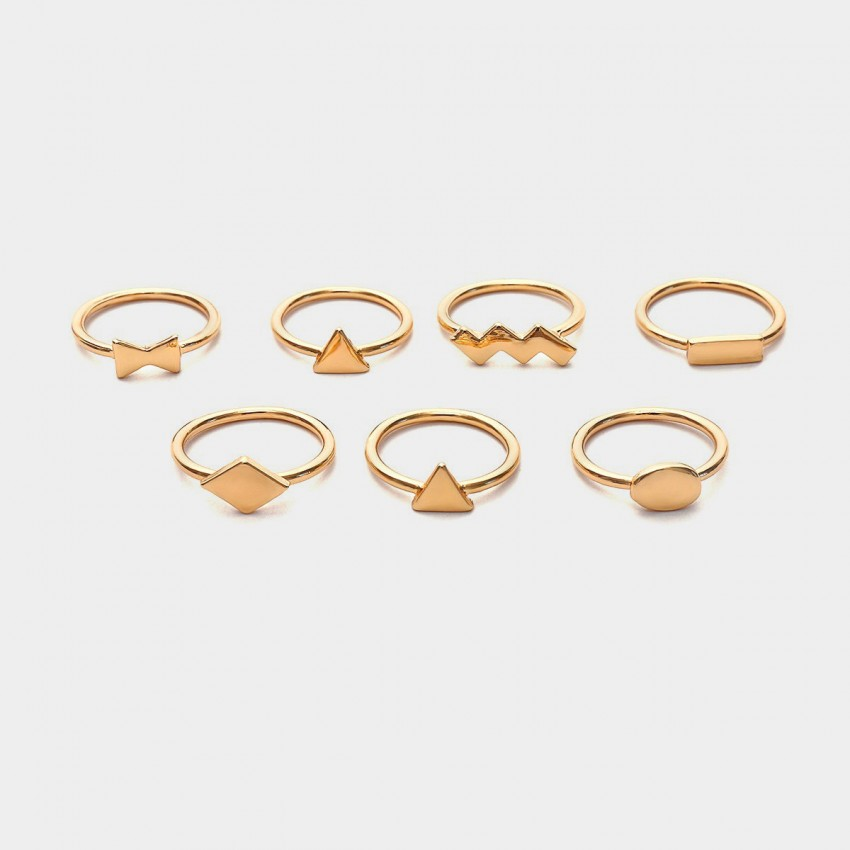 Coen C 7-Pieces Magic Trick Gold Ring Set (F00214K1)