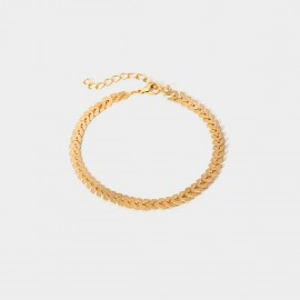 Coen C Aircraft Chain Gold Anklet (H00435K1)