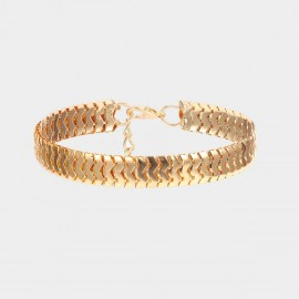 Coen C Snaky Band Gold Shoes Chain (H00537K1)