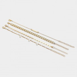 Coen C 4-Pieces Indigo Gold Bracelet Set (X00153K1)