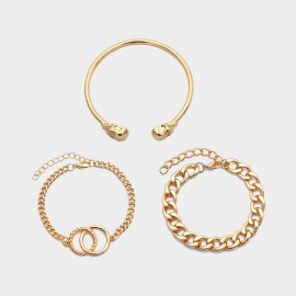 Coen C 3-Pieces Cheeky Mood Gold Bracelet Set (X00154K1)