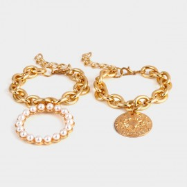 Coen C 2-Pieces Bliss Cancer Gold Bracelet Set (X00157K1)