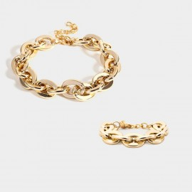 Coen C 2-Pieces Coco Gold Bracelet Necklace Set (X00170K1)