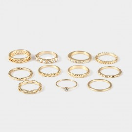 Coen C 11-Pieces Sweet Romance Gold Ring Set (X00175K1)