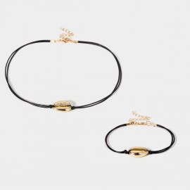 Coen C 2-Pieces Sea Voice Gold Bracelet Necklace Set (X00179K1)