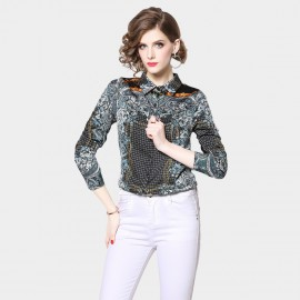 OFYA Chained Floral Green Shirt (2035)