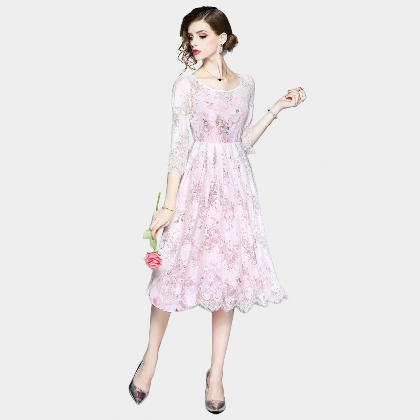 Buy OFYA Rose Pink Dress online, shop OFYA with free shipping
