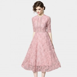 OFYA Classic Floral Pink Dress (6643)