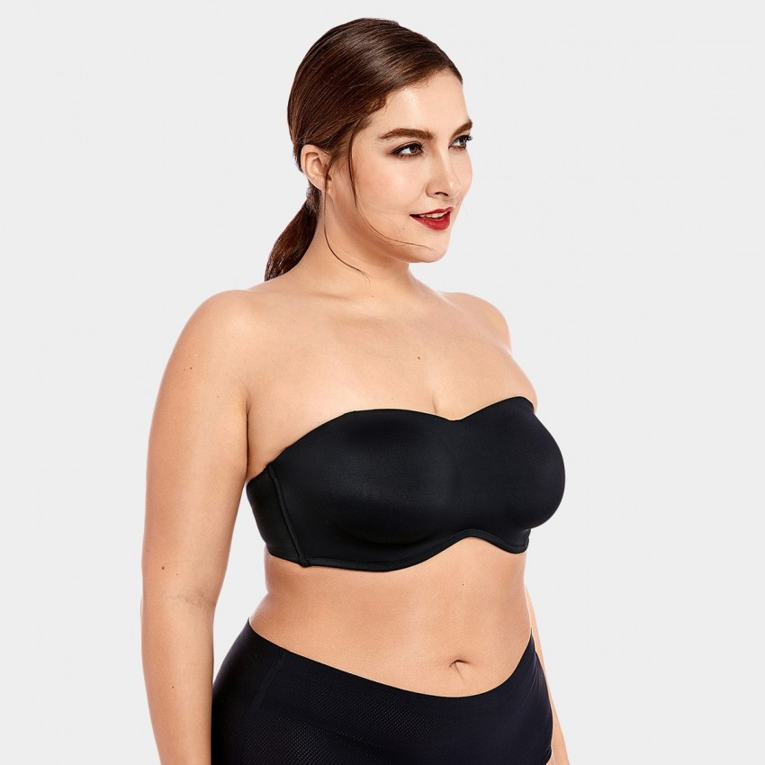 Delimira Seamless Full Coverage Black Bra (H314)